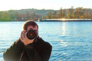Fotograf am Rhein